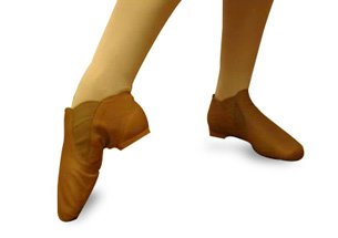 An image of modern ballet shoes on feet