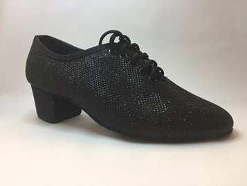 Picture of 1. Mens Hard Toe Latin Shoe with glitter