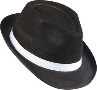 Picture of Black Mafia Hat With White Band
