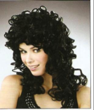 Picture of Medium Curly Black Wig