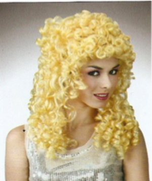 Picture of Medium Curly Blonde Wig
