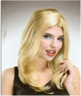 Picture of Medium Length Blonde Wig