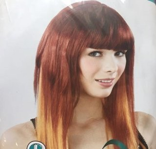 Picture of Red Long Cleopatra Golden Ends