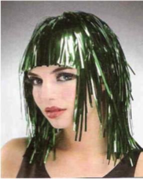 Picture of Tinsel Wig Green
