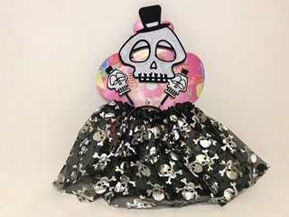 Picture of Skeleton Halloween Outfit - skirt, mask and head band