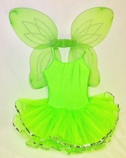 Neon Green Monkey Tutu with Wings