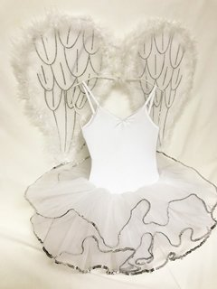 White Monkey Tutu with Sequence