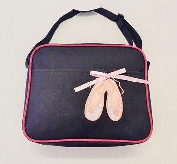 Black Ballet Bag with Pink Ballet Shoes