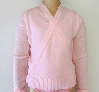 Knitted cross over jersey