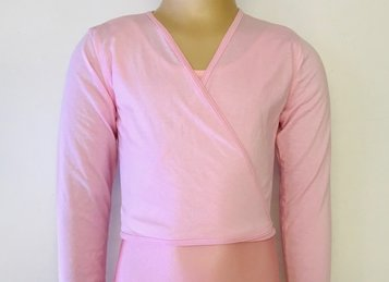 Pink cotton cross over jersey