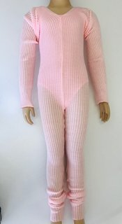 Knitted ribbed unitards