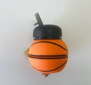 Swirl basketball water bottle