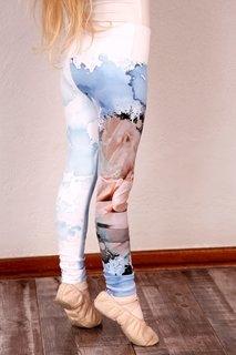 Picture of Printed leggings children - cream