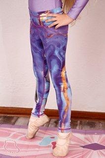 Picture of Printed leggings children - purple