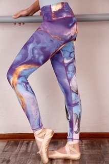 Picture of Printed leggings adult - Purple