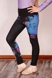 Picture of Printed leggings children - Black