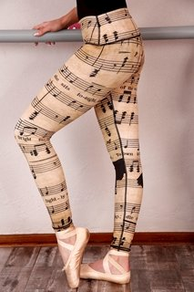 Picture of Printed leggings adult - Music